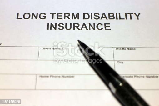 istock Applying for Long term Disability Insurance 482196028