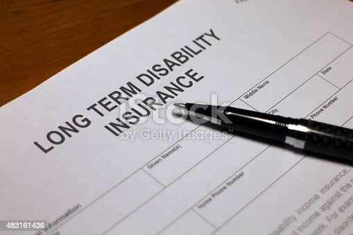 istock Applying for Long term Disability Insurance 483161436
