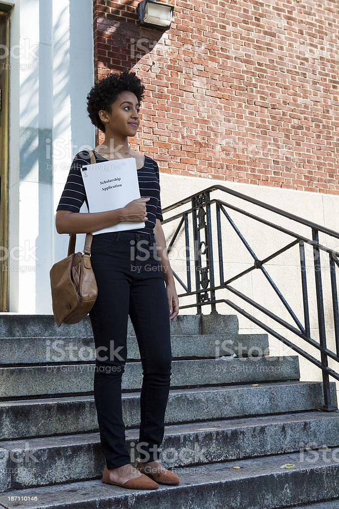 Applying for scholarship stock photo