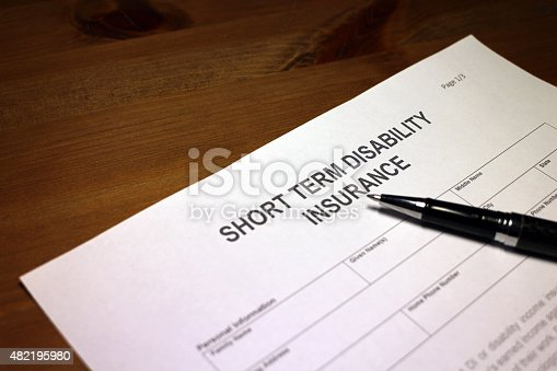 istock Applying for Short term Disability Insurance 482195980