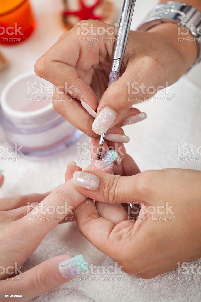 Applying gel royalty-free stock photo