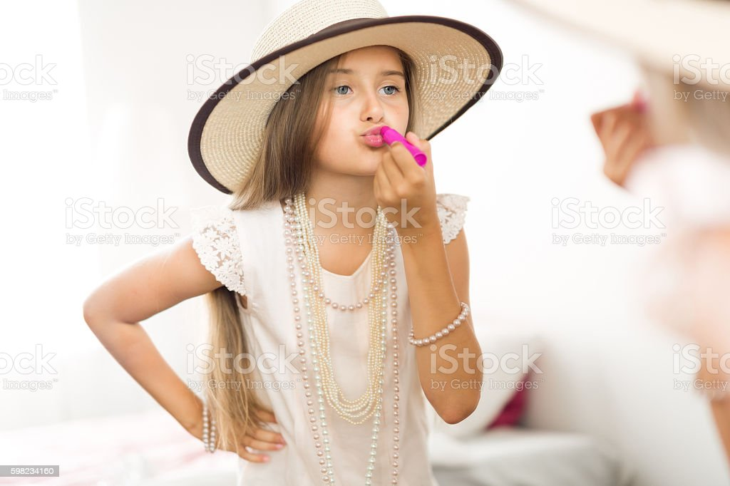 Benutzt Lippenstift  Lizenzfreies stock-foto