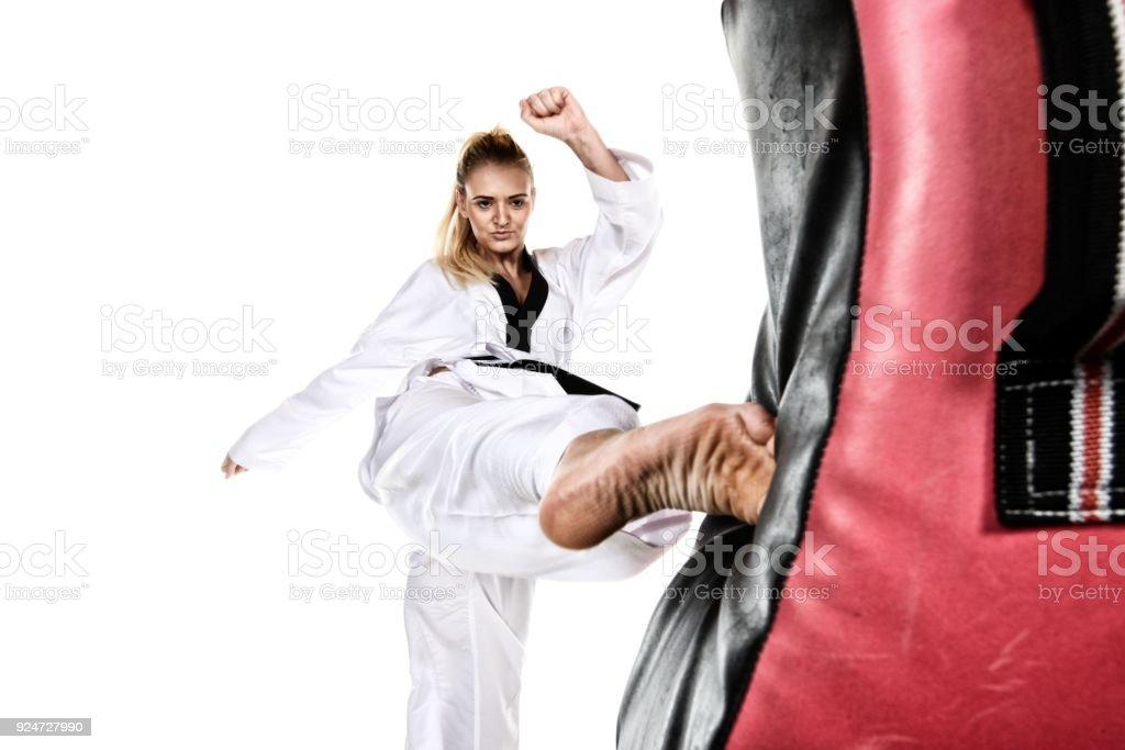 Applying Martial Arts stock photo