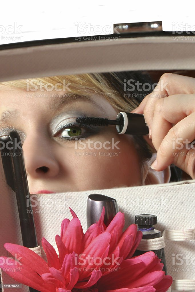 applying mascara royalty-free stock photo
