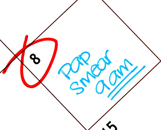 Appointment for Pap Smear Calendar with pap smear appointment reminder pap smear stock pictures, royalty-free photos & images