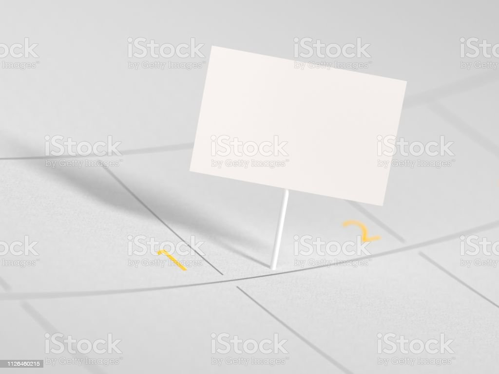 Appointment marked on calendar date mock-up stock photo