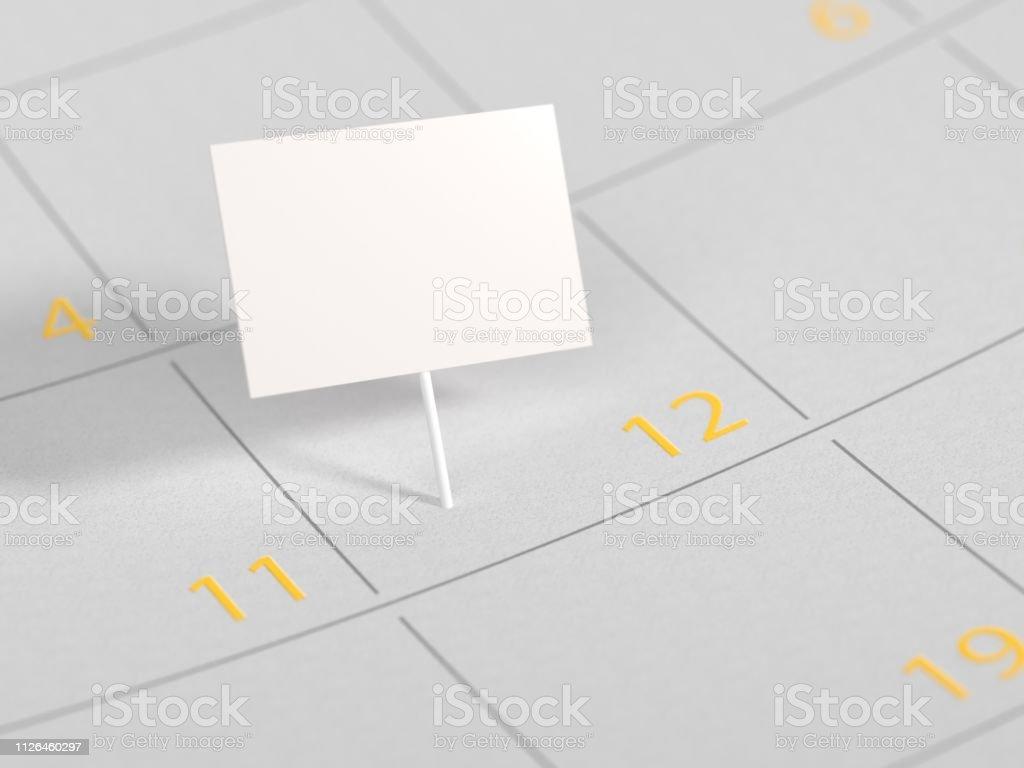 Encontro marcado no mock-up data calendário - foto de acervo