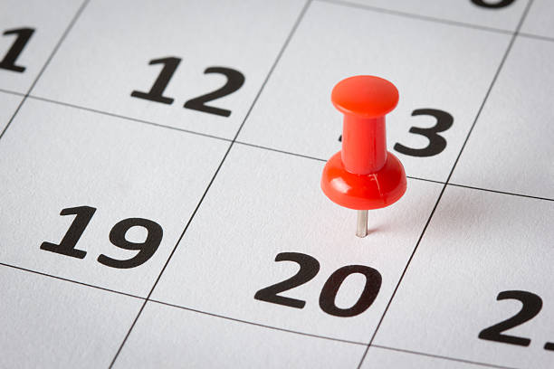 appointments marked on calendar - number 20 stock photos and pictures