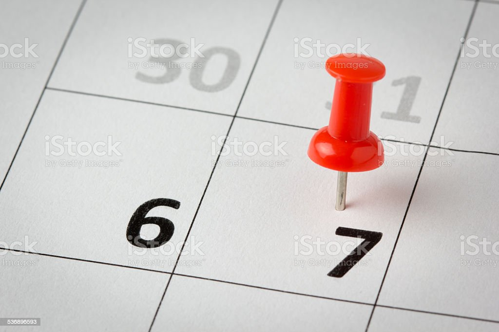 Appointments marked on calendar stock photo
