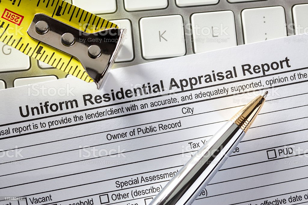 Appraisal Report stock photo