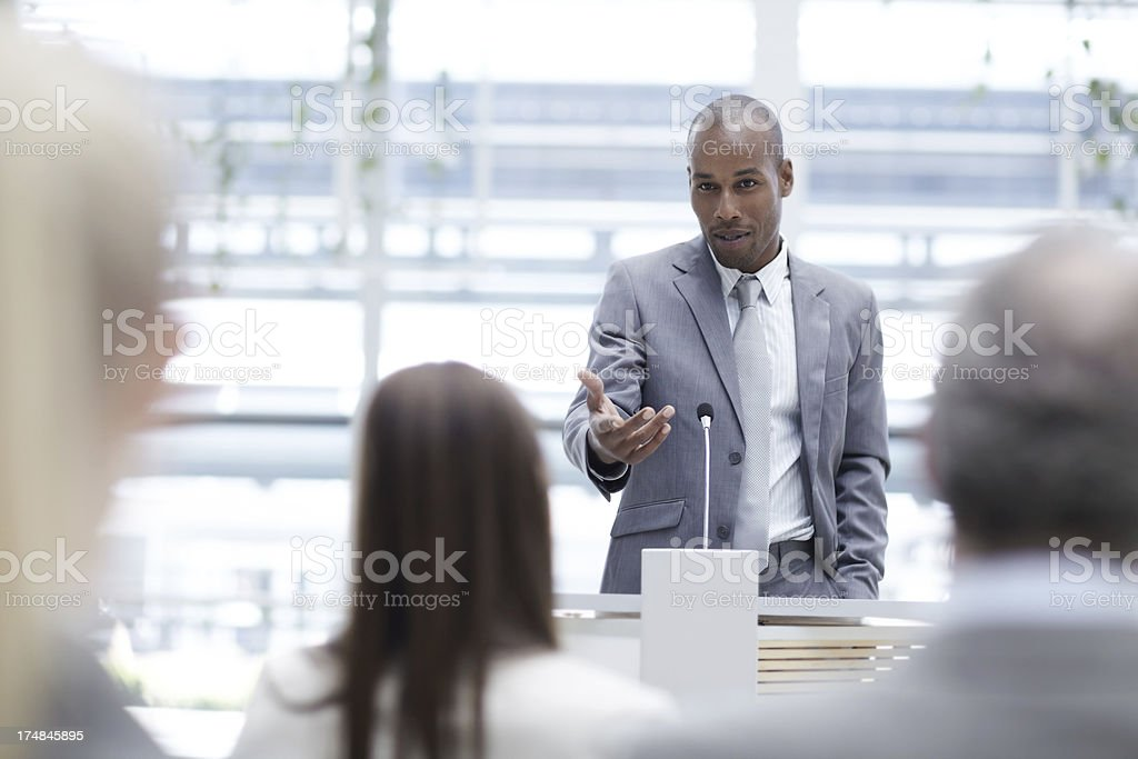 Appreciating a colleague's input royalty-free stock photo