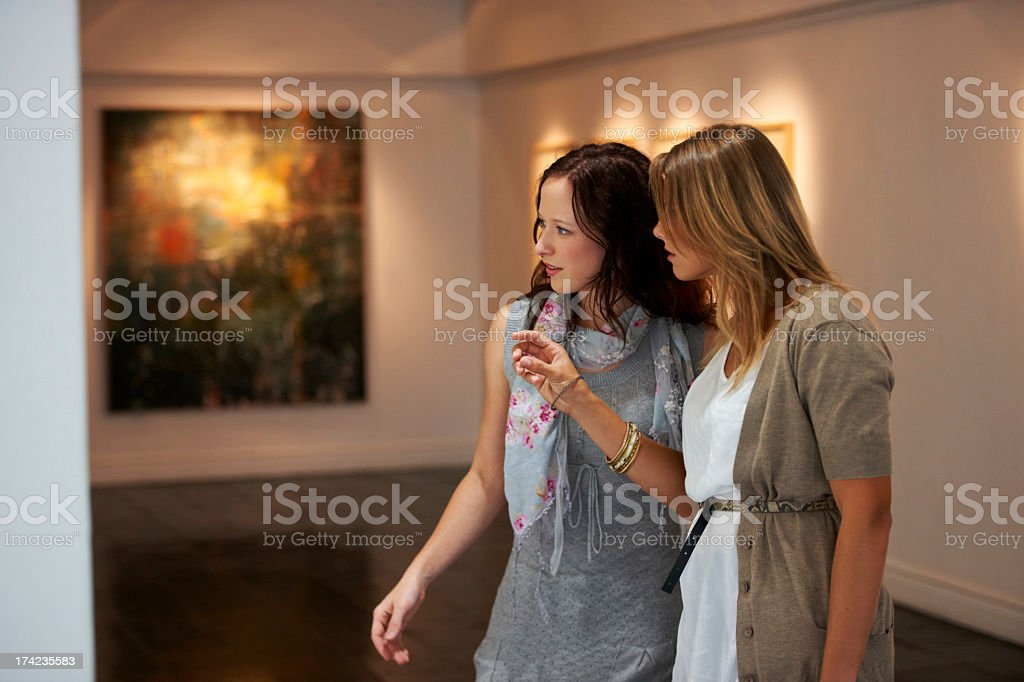 Appreciating art stock photo