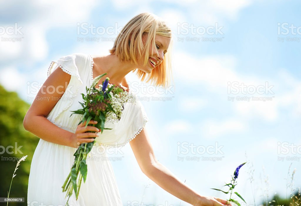Appreciating the beauty of the countryside stock photo