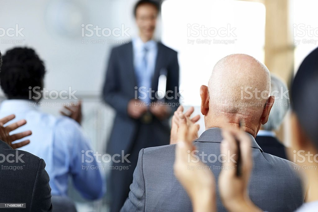 Appreciating the presentation stock photo