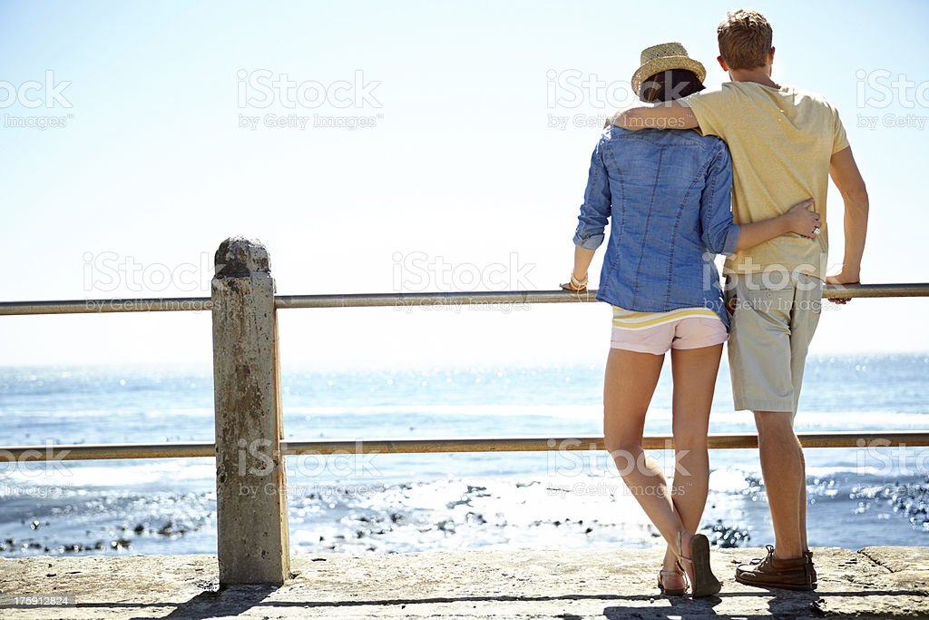 Appreciating the view royalty-free stock photo