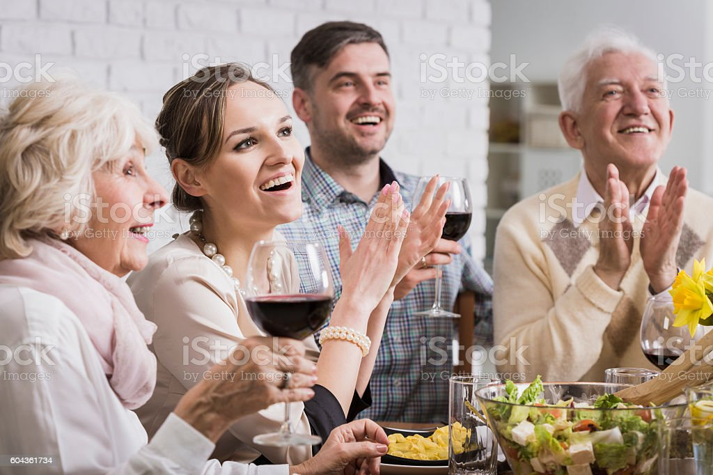Appreciation of the efforts by family members stock photo