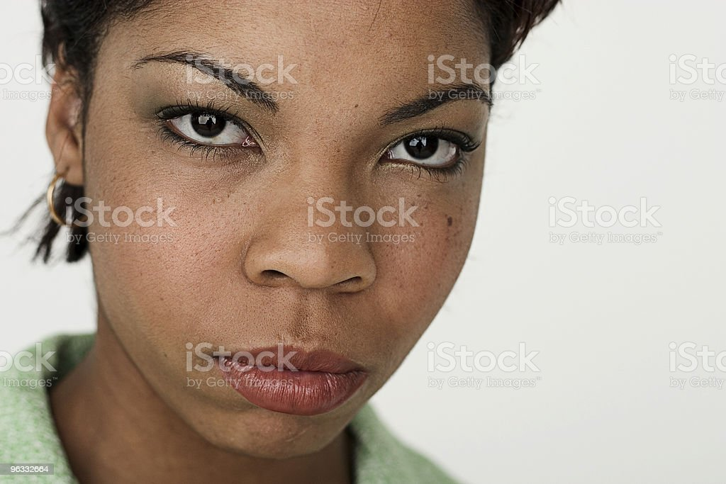 Apprehensive stock photo