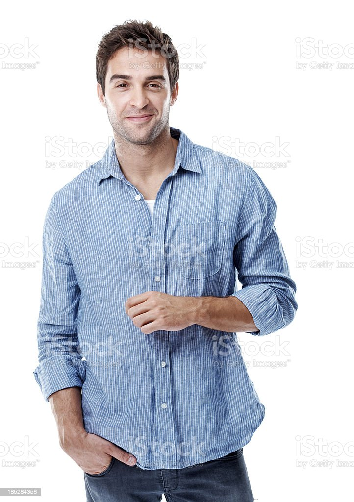 I approach life with a smile stock photo