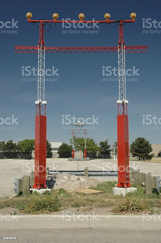 Approach lights royalty-free stock photo