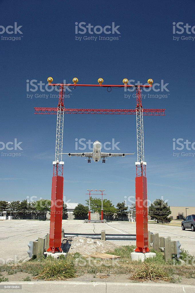 Approach lights3 royalty-free stock photo