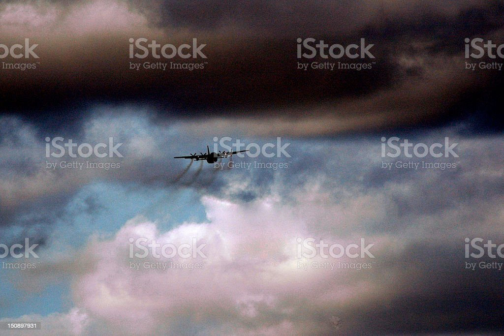 C-130 Approach stock photo