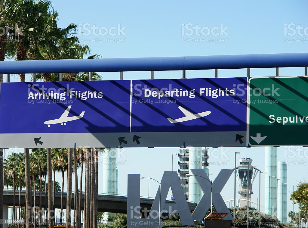 LAX Approach stock photo