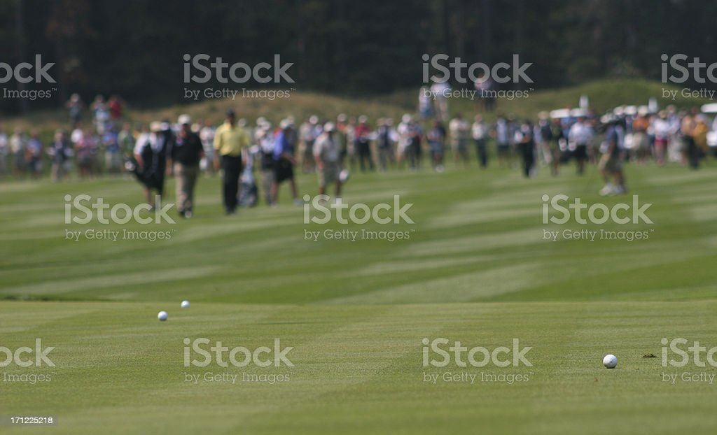 Approach Shots During A Professional Golf Tournament stock photo