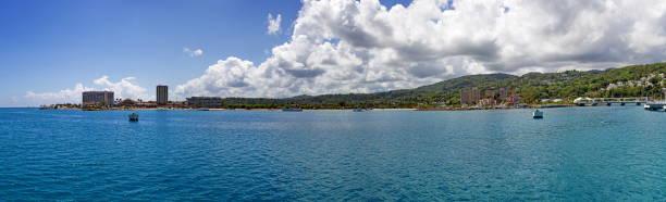 Approach to Ocho Rios, Jamaica stock photo