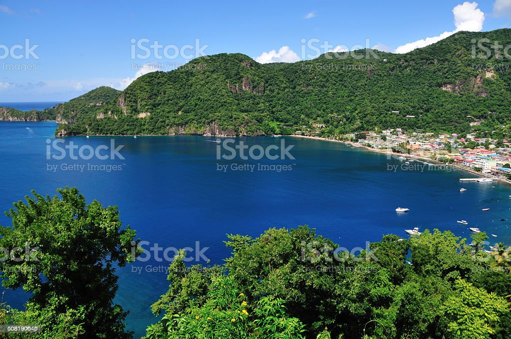 Approach to Soufriere stock photo