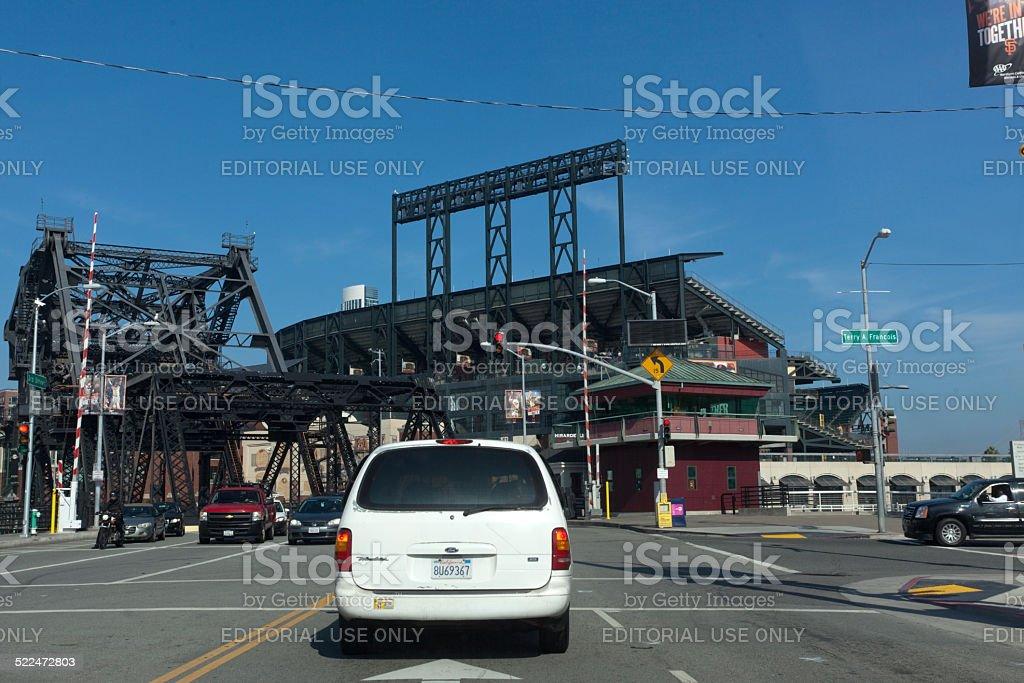 Approaching AT&T Baseball Park stock photo
