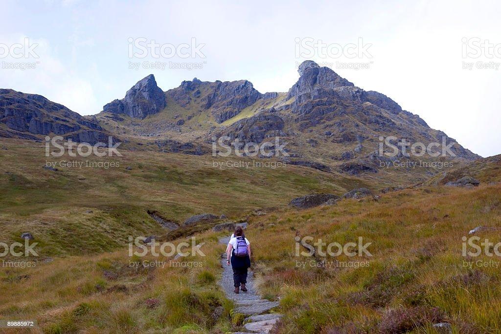 Approaching Ben Arthur royalty-free stock photo