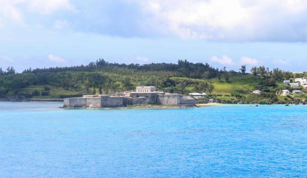 Approaching Bermuda stock photo