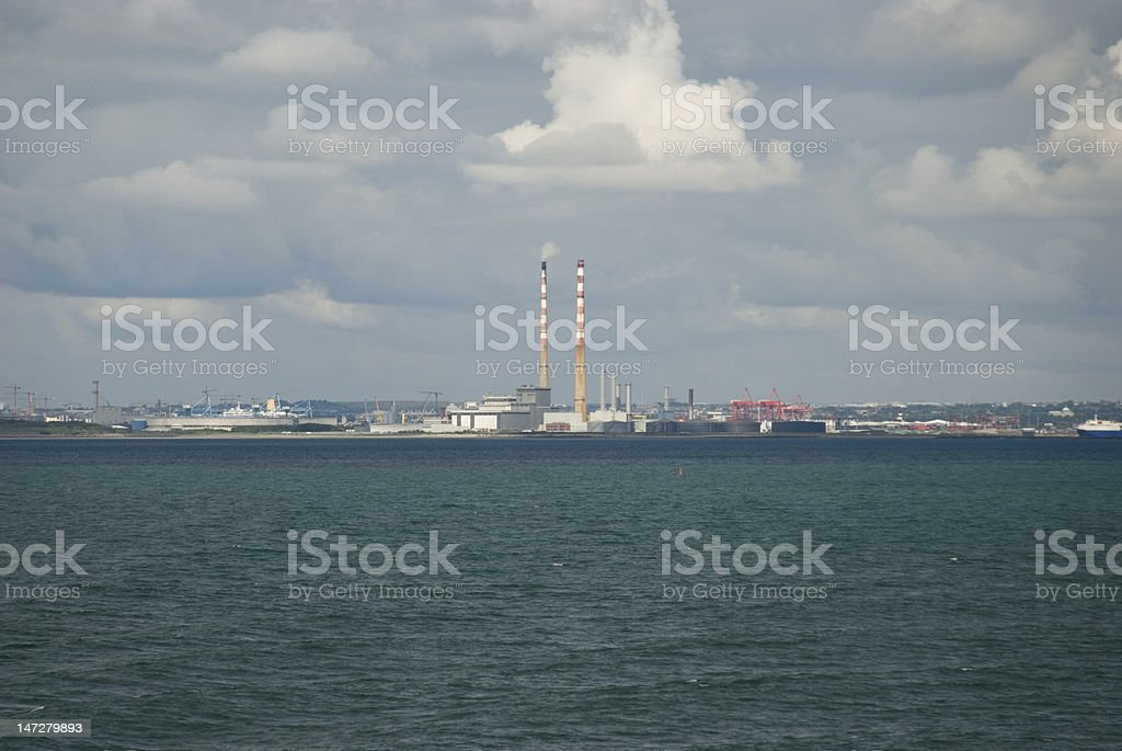 Approaching Dublin Port by Sea stock photo