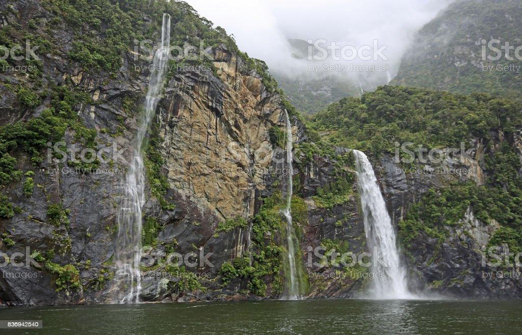 Approaching Fairy Falls stock photo