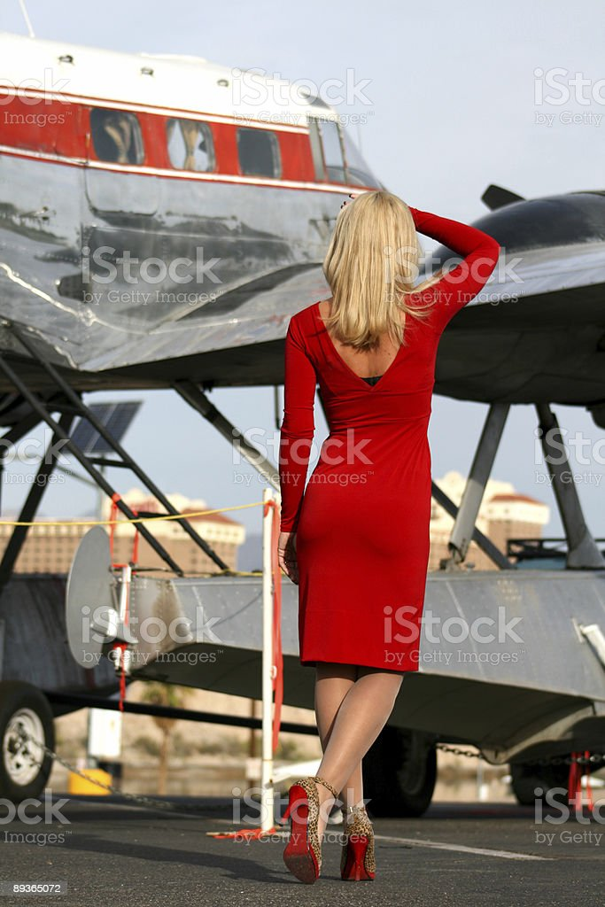 Approaching her Plane royalty-free stock photo