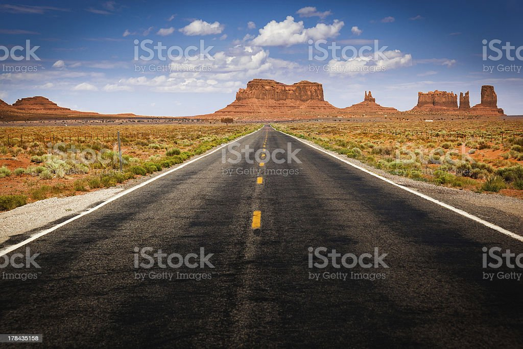 Approaching Monument Valley on Highway 163 stock photo