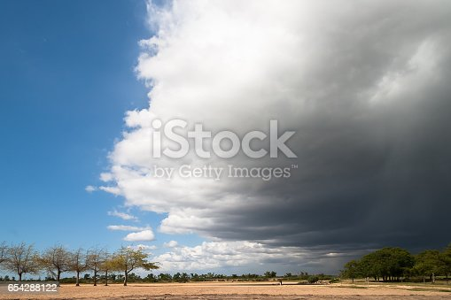 istock Approaching Storm Front Creating a Dramatic Sky 654288122