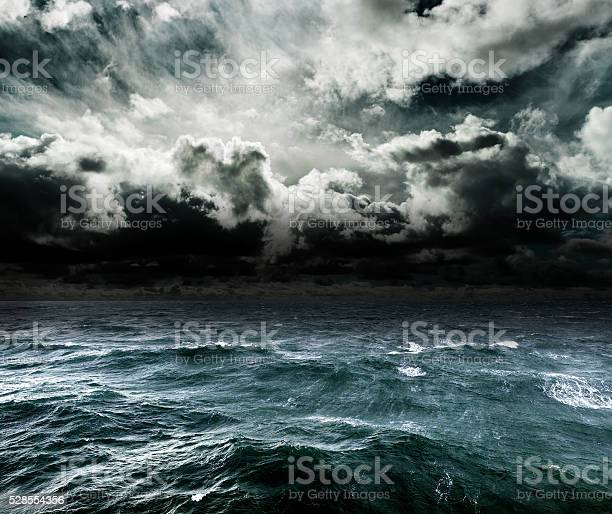 Photo of Approaching storm over the ocean.