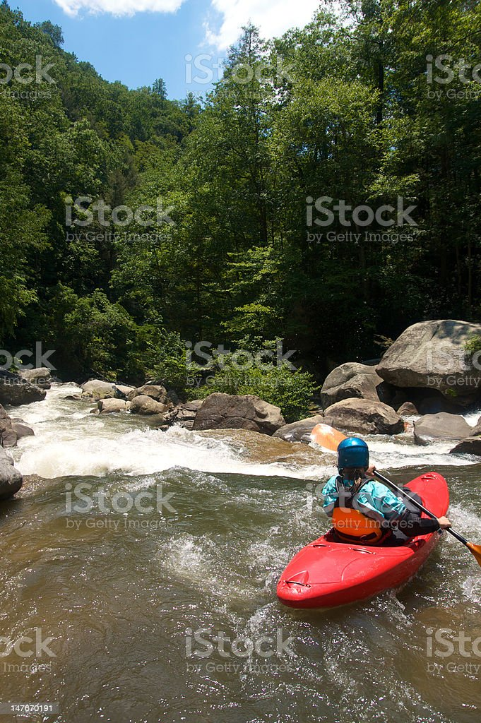 Approaching the Gnar royalty-free stock photo