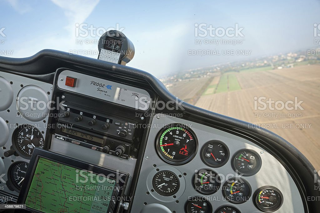 Approaching to airstrip stock photo