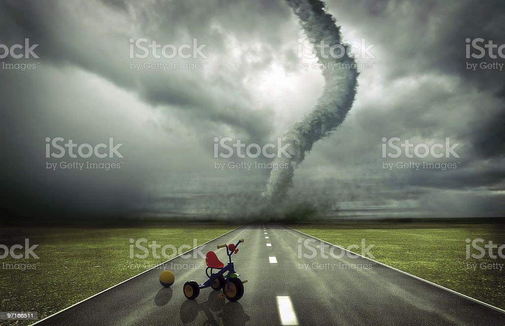 approaching tornado royalty-free stock photo