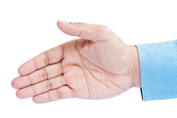 Approbation gesture of business man's hand Approbation gesture of business man's hand, introduction or shake hand offering approbation stock pictures, royalty-free photos & images