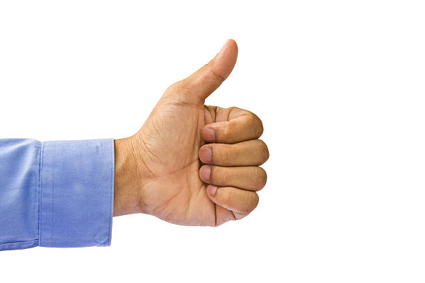 Approbation gesture of business man's hand Approbation gesture of business man's hand, isolated on white, like or impressive concept approbation stock pictures, royalty-free photos & images