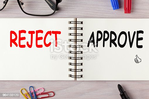 istock Approve or Reject Concept 964133120
