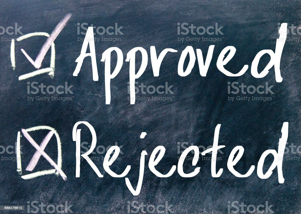 approved and rejected choice – Foto