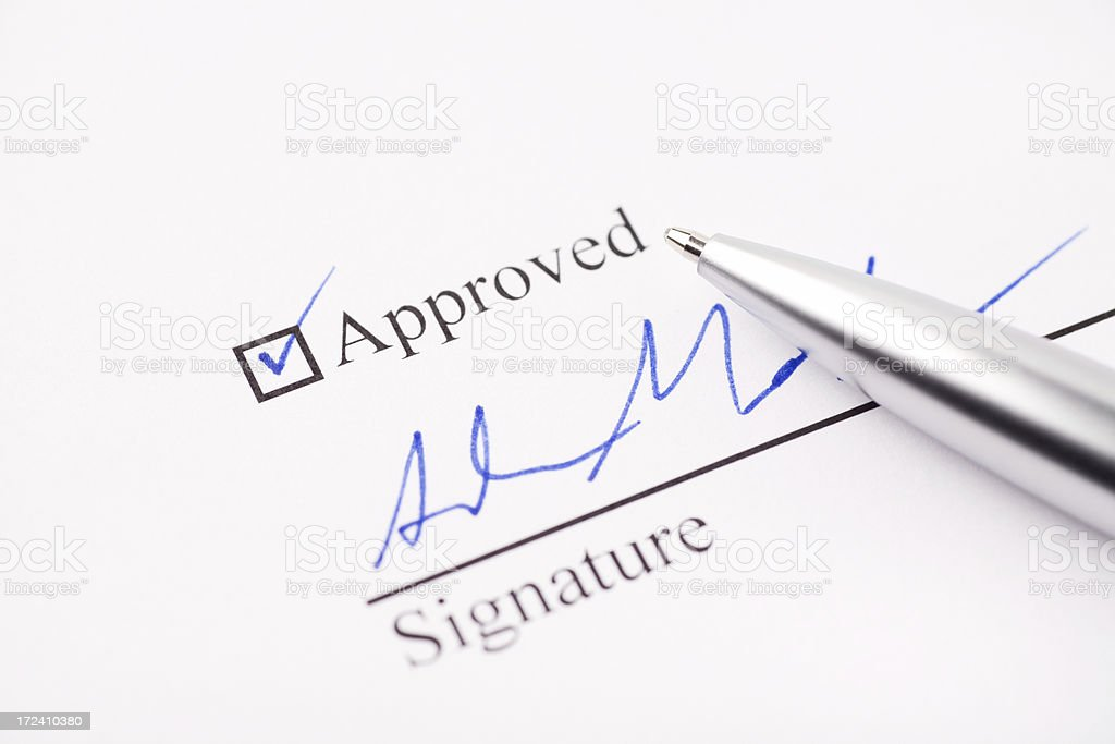 Approved and Signed royalty-free stock photo