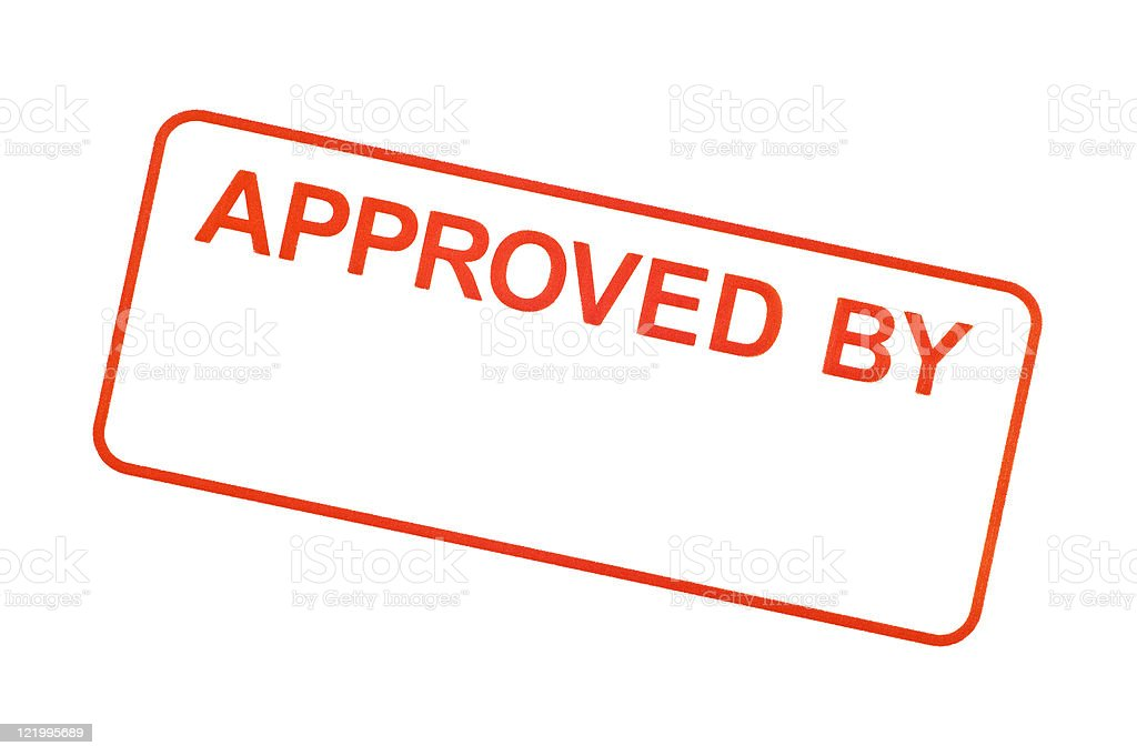 Approved By Rubber Stamp royalty-free stock photo