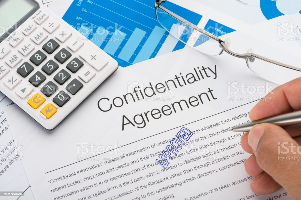 Approved Confidentiality Agreement Form Stock Photo More Pictures