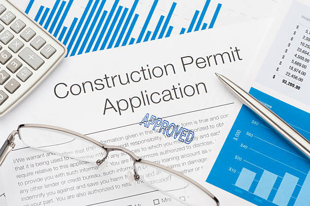 approved construction permit application - permit stock photos and pictures