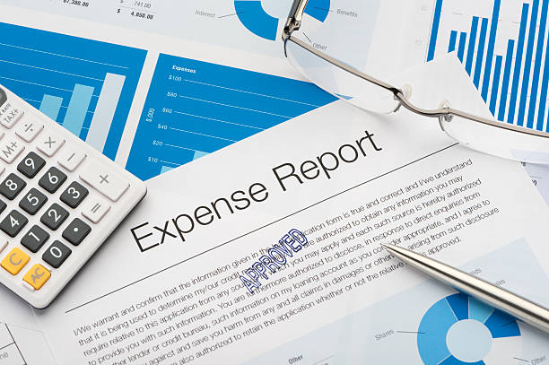 Approved expense report stock photo
